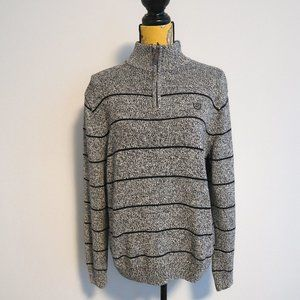 Chaps Two Tone Knit Sweater Size Large